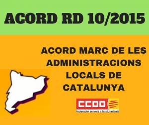 Acord comú Administració local